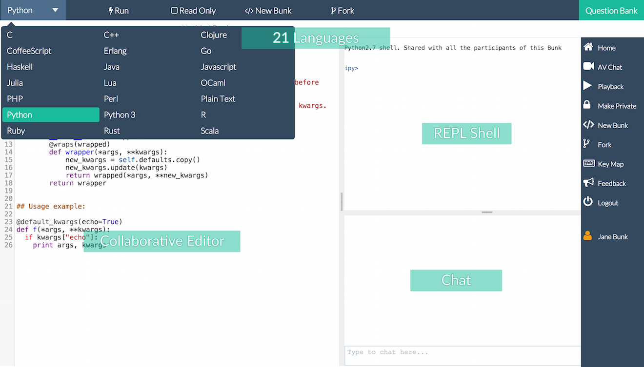 CodeBunk: Online Realtime Collaborative Editor and Compiler